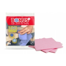 BONUS Uni cloth törlőkendő (38x38cm) perforált 3db-os