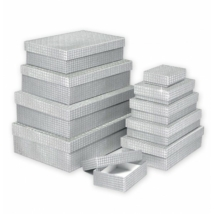 Argus díszdoboz 10 db-os ezüst, ezüst csillagos