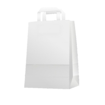 Papírtáska szalag füllel fehér (26x35x12)