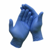 Gumikesztyű egyszer használatos, púdermentes kék XL 100db/doboz