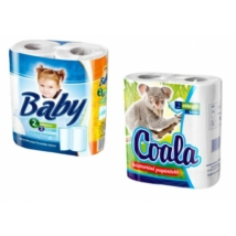 COALA, BABY 2 tekercs 2 rétegű tekercses kéztörlő (45 lap/tekercs)