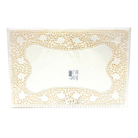 Tortacsipke téglalap alakú fehér (300x180mm, 100 db/csomag)