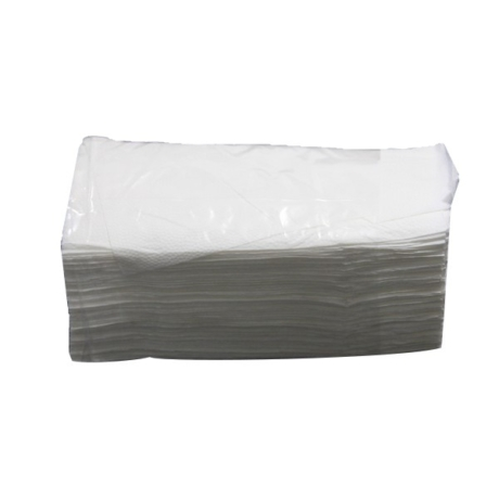 """Kéztörlő közületi """"V"""" hajtogatott 2 rétegű 100% fehér 150lap/csomag (20csg/dob)"""