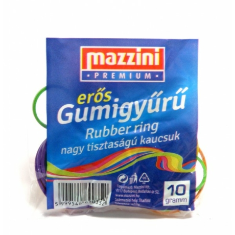 Gumigyűrű prémium színes (2-4cm) 10g