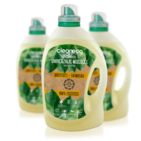 Cleaneco organikus univerzális mosógél koncentrátum 3 l - 60 mosáshoz