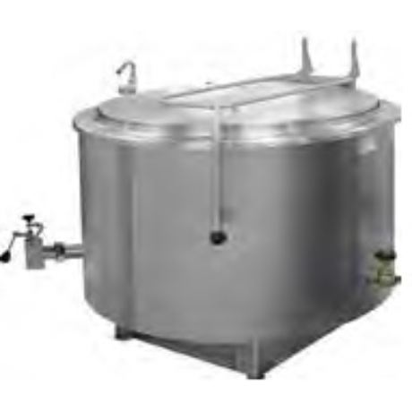 Önállóan telepíthető gőzüzemű főzőüst